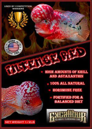 Excalibur Intense Red Flowerhorn Food