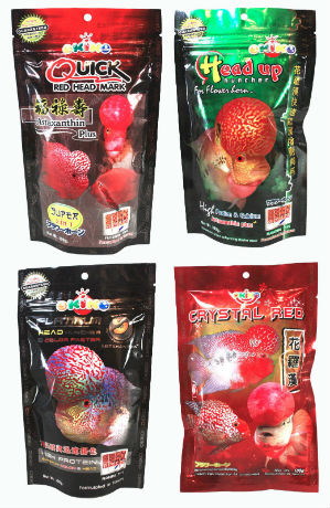 OKIKO Flowerhorn Fish Food 4 pack with FREE Shipping